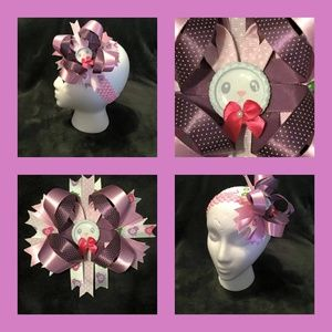 "Other - Easter Bunny 6"" Layered Boutique Hair Bow"